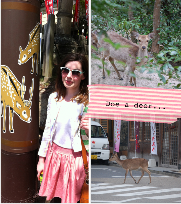 deerjapan convopieces 621x700 Japan Part 2: deer, temples, foxes... and me as a geisha