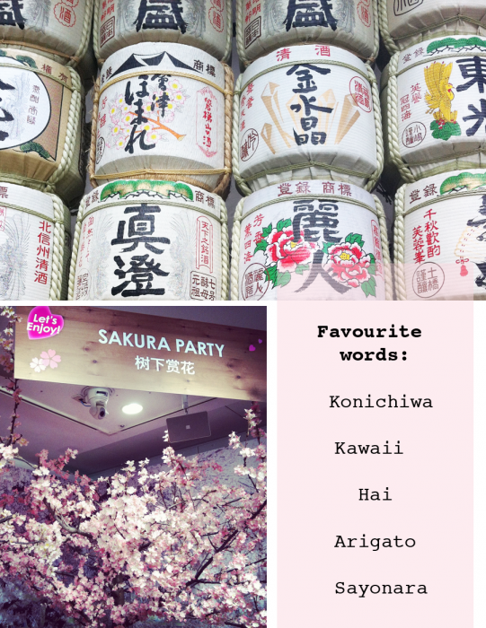 fav words japan 541x700 10 things I love about Tokyo... from our first 5 days
