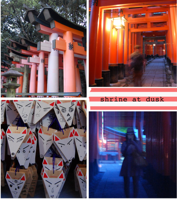 shrineatdusk 621x700 Japan Part 2: deer, temples, foxes... and me as a geisha