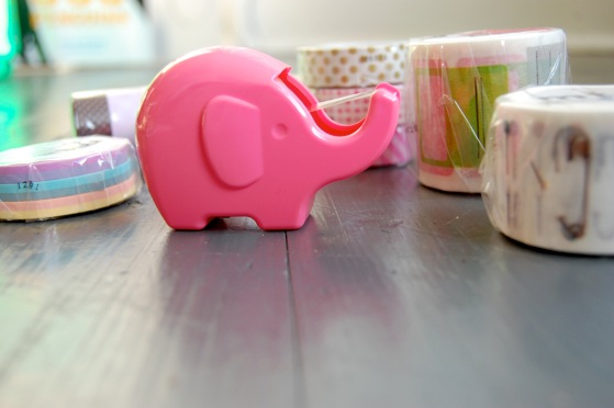 DSC 0441 Japan finds: a tape elephant, washi tape stamps and more