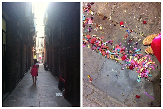 Zoe Conversation Pieces Street Confetti1 Sun, street art and celebrating in Barcelona