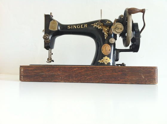 Thirfty Finds Aug Conversation Pieces 20 Thrifty finds... sewing machine, my first Pyrex & a lost bear