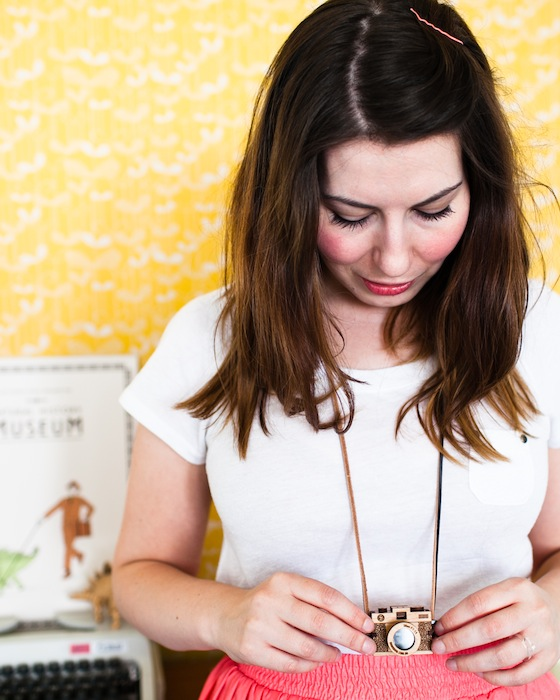 Zoe and the camera necklace | Conversation Pieces