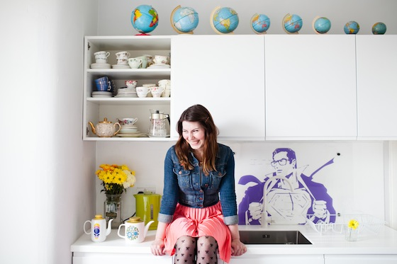 Vintage china and tin globes in the kitchen | Conversation Pieces