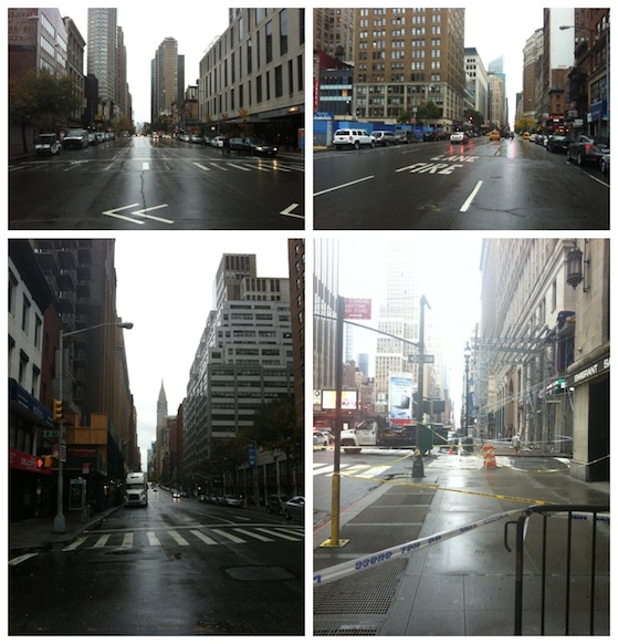 Empty NYC Conversation Pieces Blog1 A trip to New York... or the holiday and the hurricane