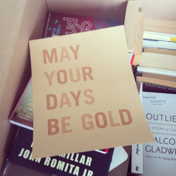 gold... conversation pieces blog Londons calling... 4 sleeps, 40 boxes and so, so, so much sorting to go