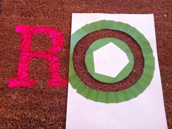 image5 Roar... my super neon, super silly, darn cool doormat DIY