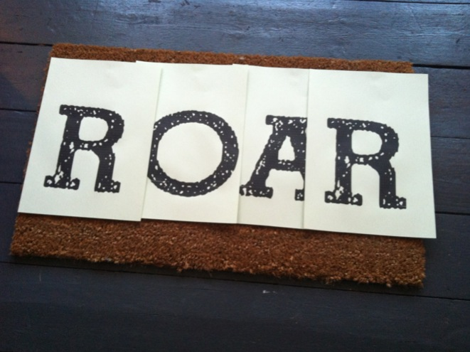 photo 1 3 Roar... my super neon, super silly, darn cool doormat DIY
