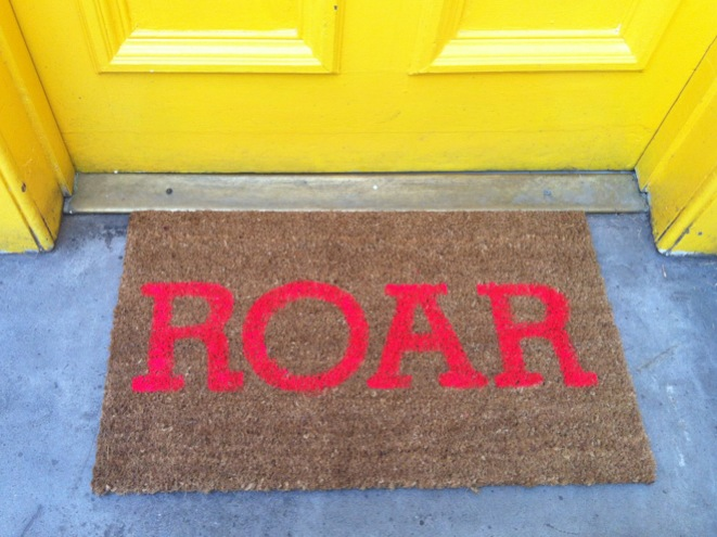 photo 2 1 Roar... my super neon, super silly, darn cool doormat DIY