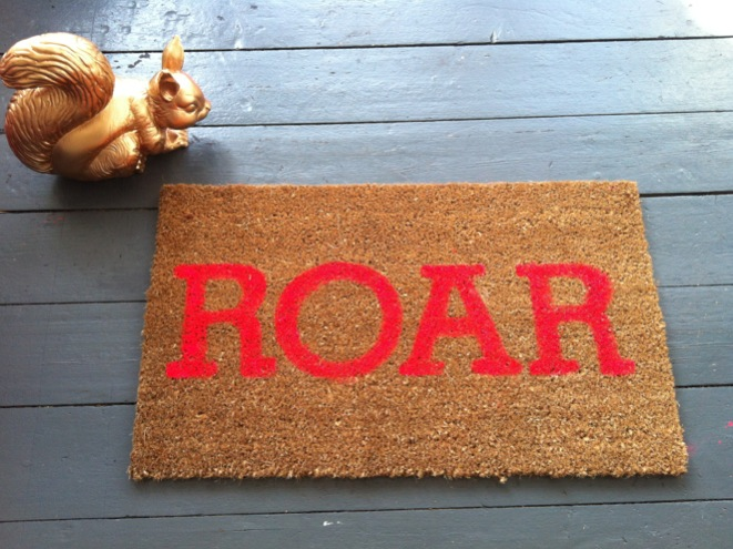 photo 3 Roar... my super neon, super silly, darn cool doormat DIY