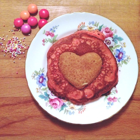 Heart Pancake Convo Pieces The Red Velvet Pancake experiment... a tasty (but cautionary) tale