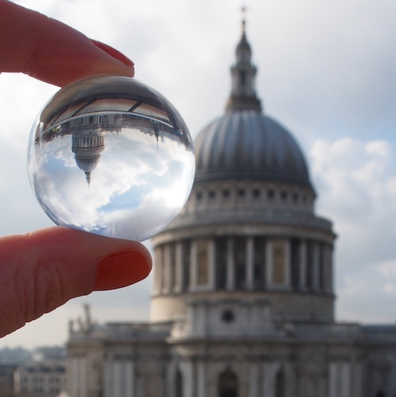 St Pauls 2 – London Marble – @Convo Pieces London reflections... one big city, one little marble