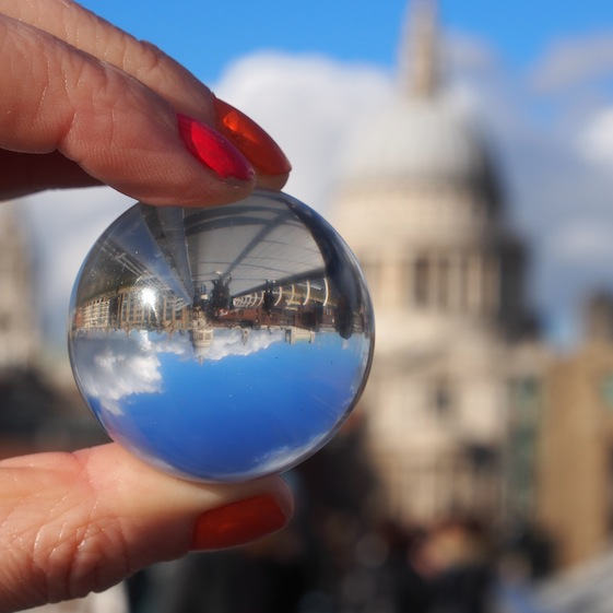 St Pauls 4 – London Marble – @Convo Pieces London reflections... one big city, one little marble