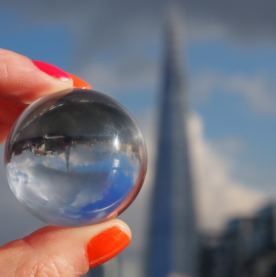 The Shard 2 – London Marble – @Convo Pieces London reflections... one big city, one little marble