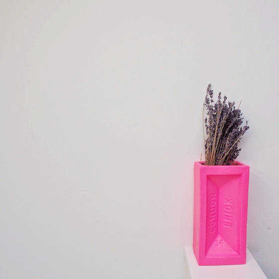 Pink London brick – Conversation Pieces blog Everythings going to be all bright... a mini new home tour... + tales from the old flat