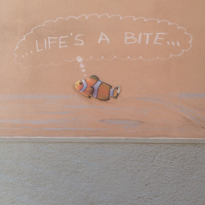 Life's a bite – street art in Rome