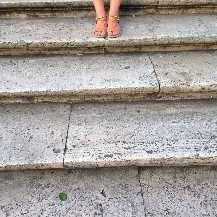 Standing on the Spanish Steps in Rome