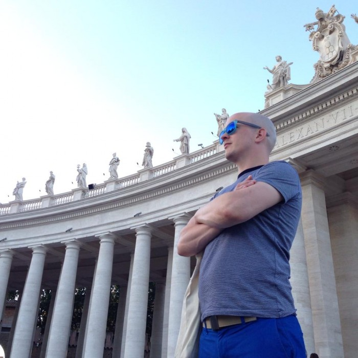 Alone at the Vatican in Rome