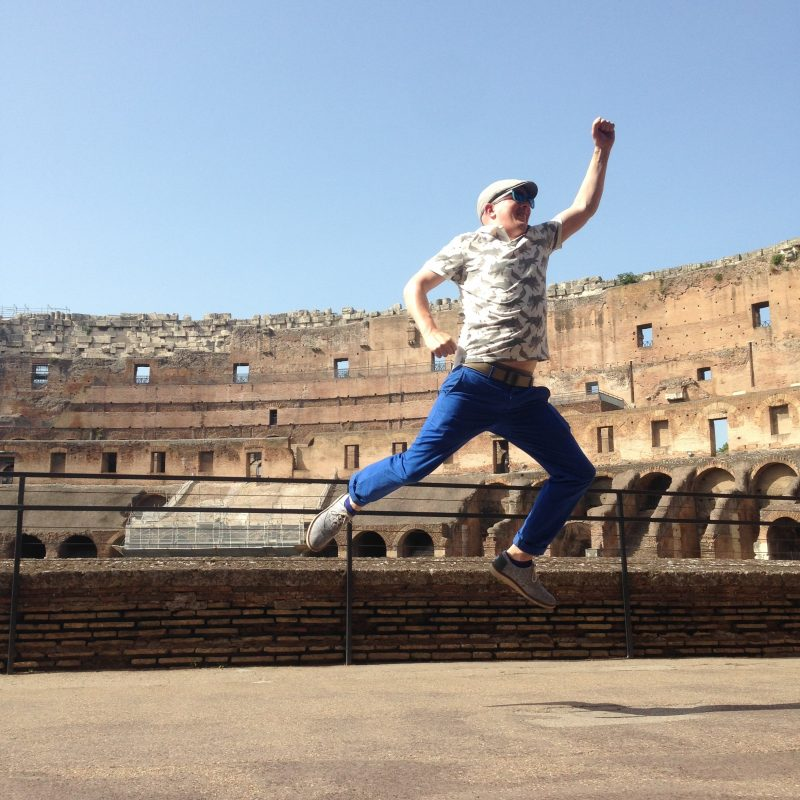 Jumpstagram at the Colosseum in Rome Italy
