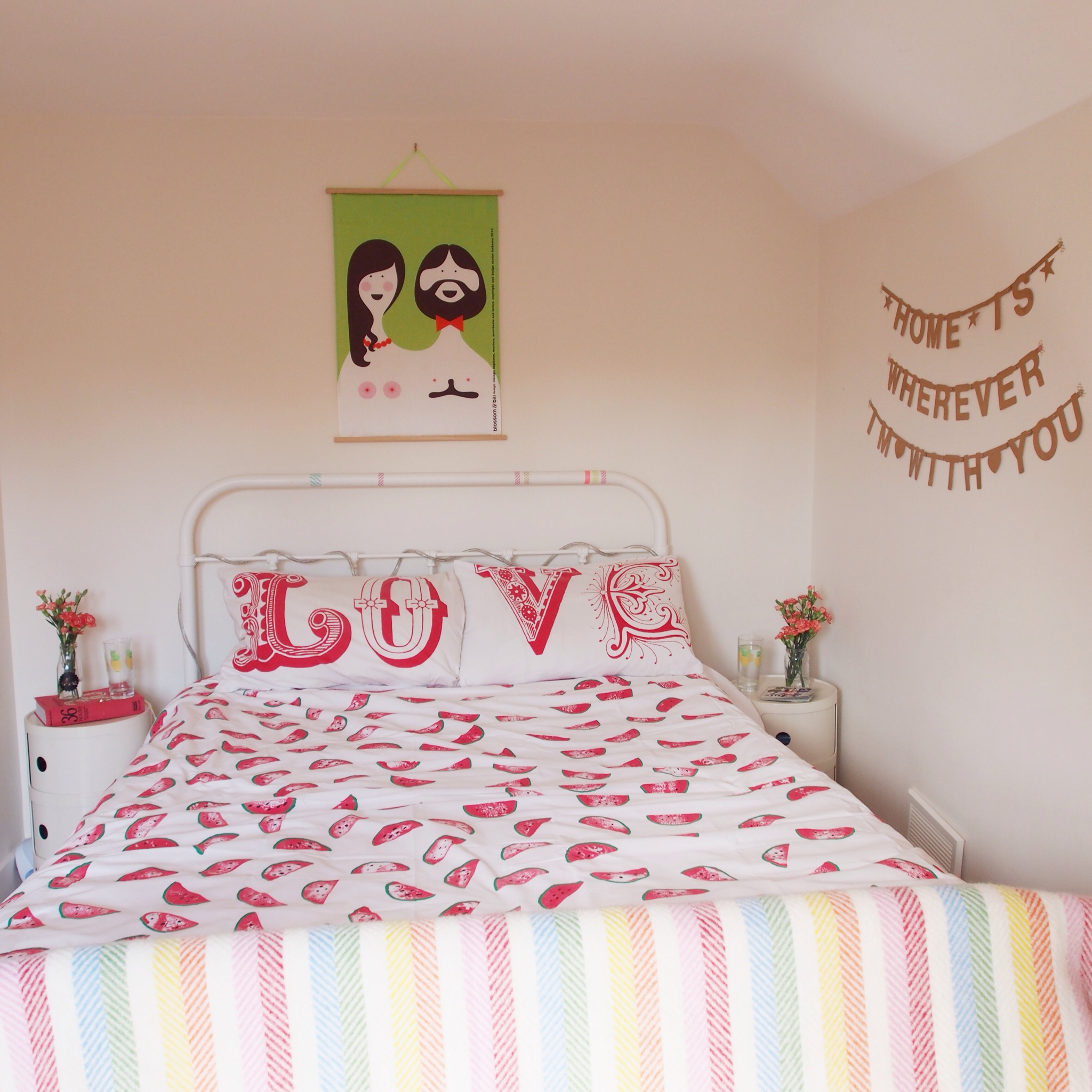 DIY watermelon bed sheets
