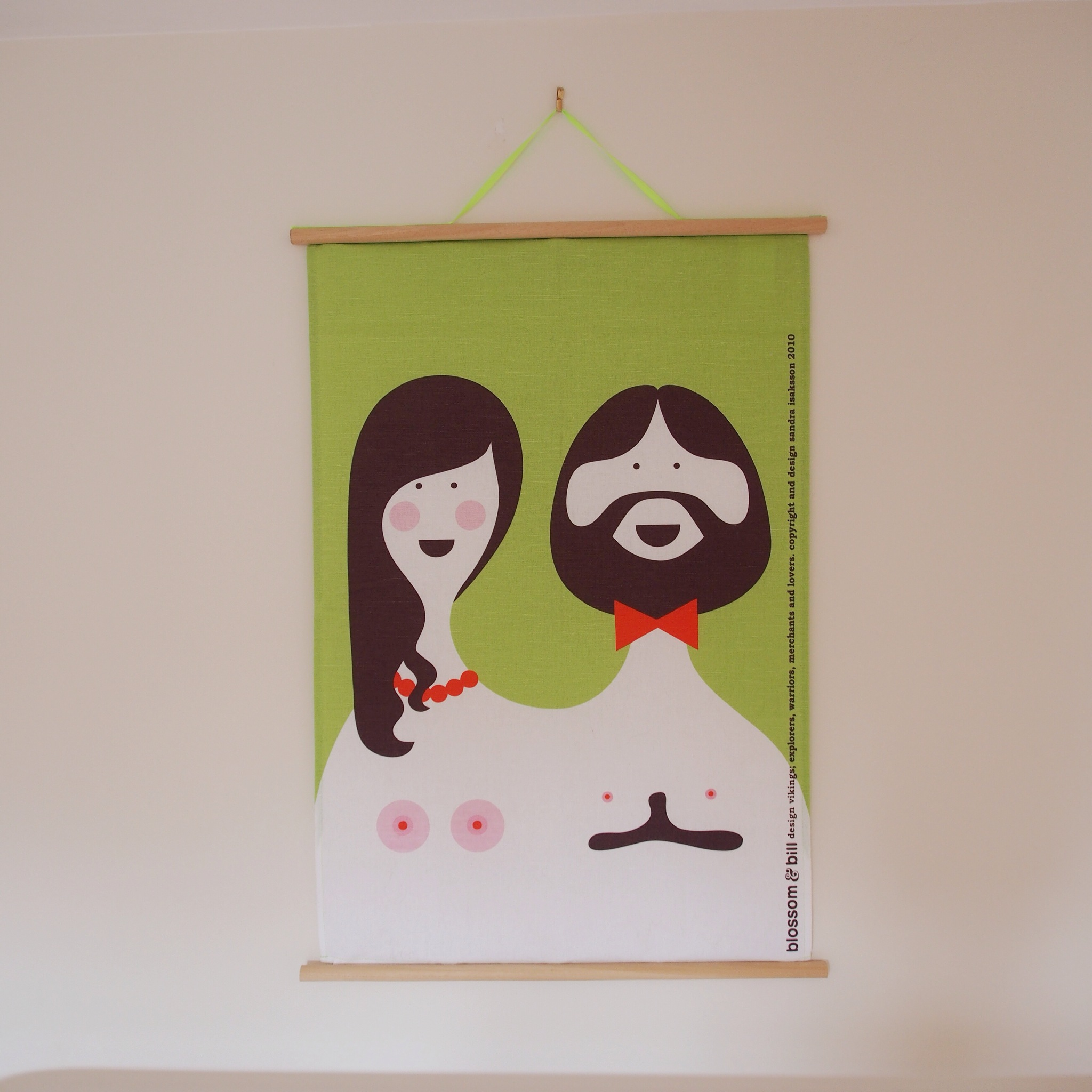 Tea towel frame DIY