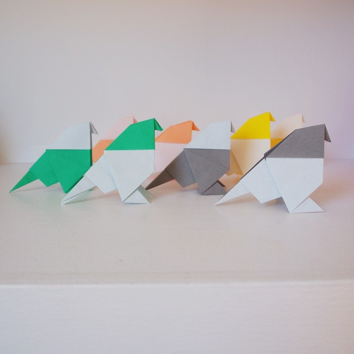 Positive pigeons… a year of spreading a bit of origami cheer in London