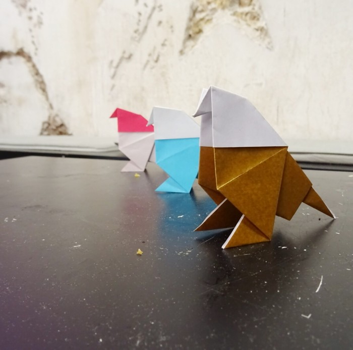 A year of origami pigeons