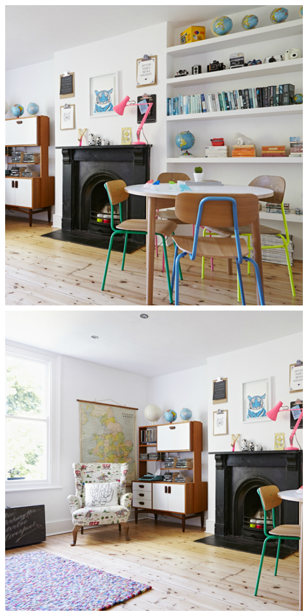 Colourful and bright home tour with vintage finds