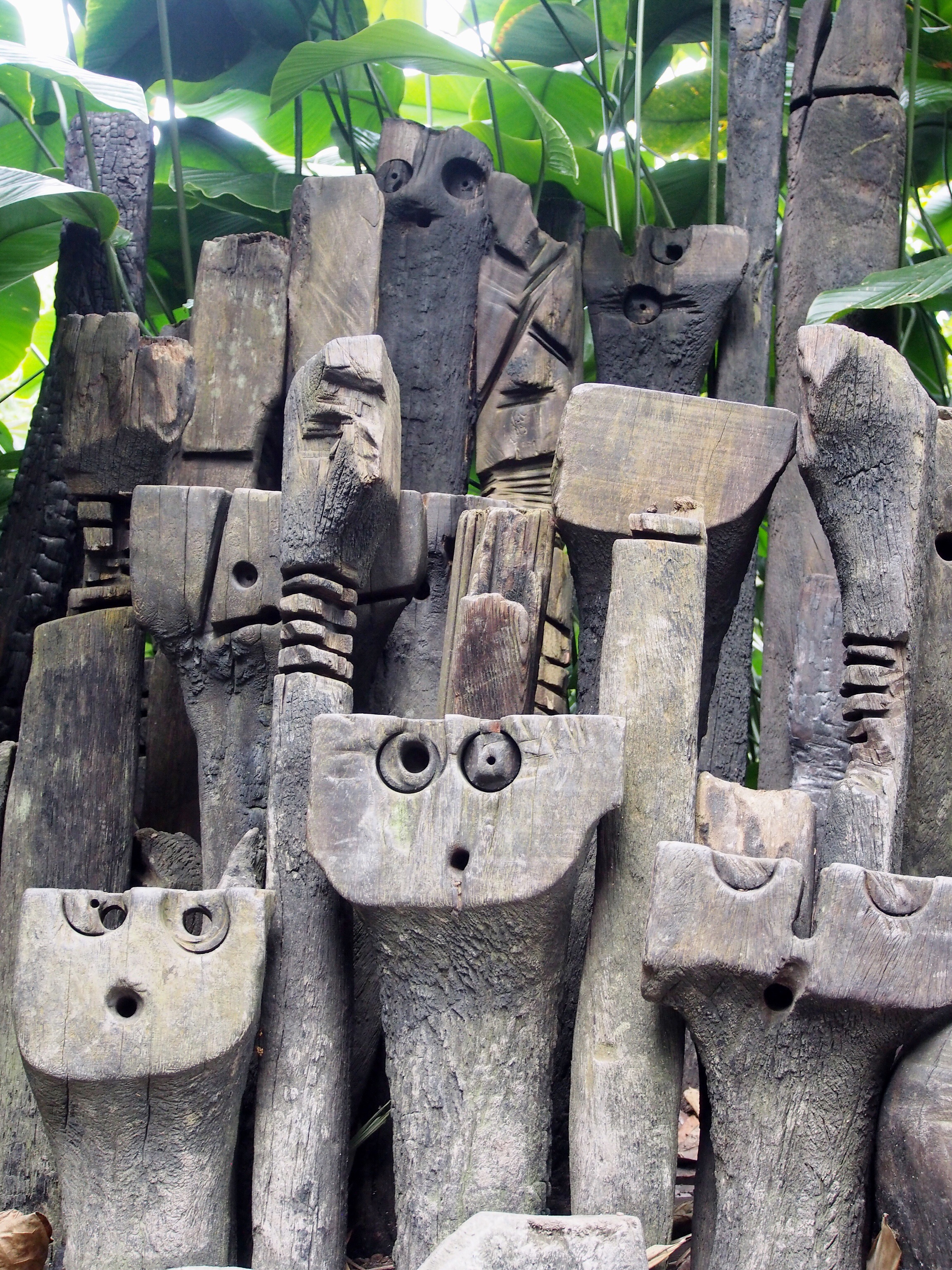 Carvings inside the Eden Project in Cornwall| Conversation Pieces