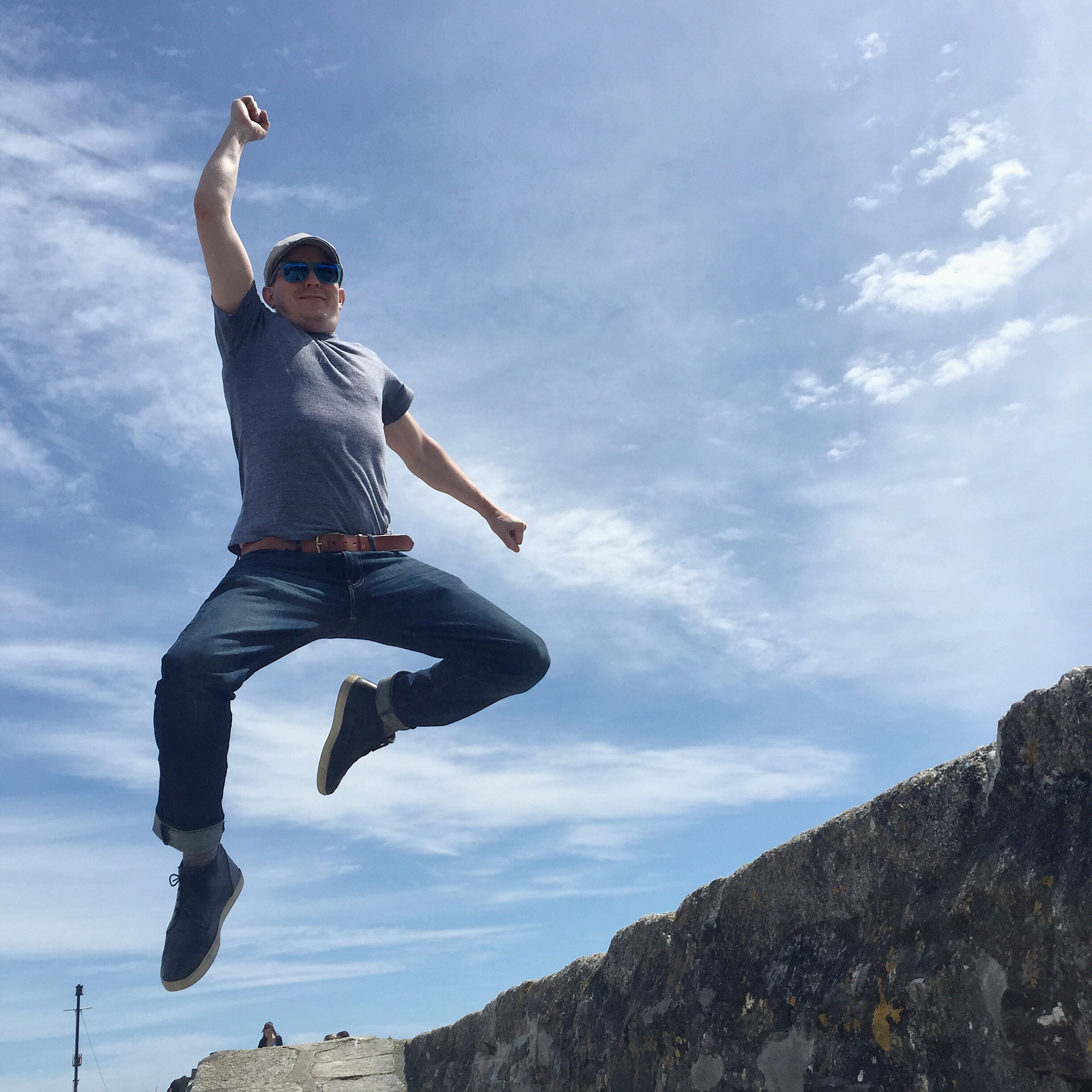 Harbour jump shot in Cornwall | Conversation Pieces